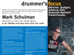 Das Plakat der df-Workshop-Tour mit PINK-Drummer Mark Schulman.