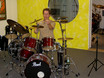 Andy Gillmann im Besen-Workshop im drummer's focus Stuttgart am 6. November 2004