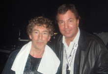 Simon Phillips und Cloy am 4. April 2009 backstage nach Simons Auftritt in Frankfurt.